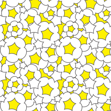 corn flakes: The background of the popcorn. Seamless pattern. Vector.