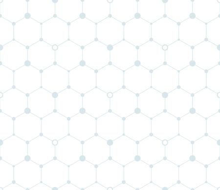 Digital hexagon background. Seamless pattern. Vector.