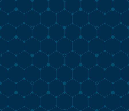 デジタルの六角形の背景。シームレス パターン。ベクトル。