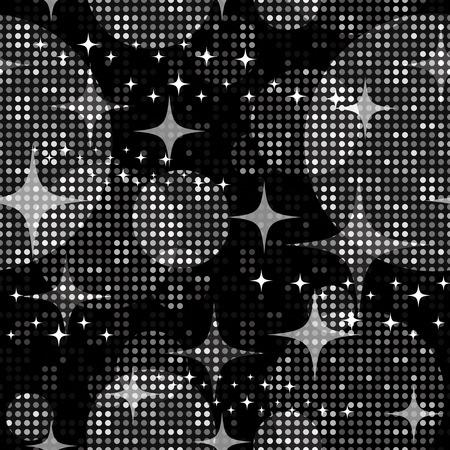 shiny metal: Disco lights background. Seamless pattern. Vector. Illustration