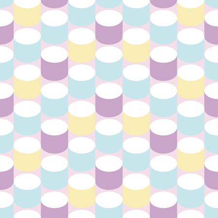 Retro cylinder background. Seamless pattern. Vector. 일러스트