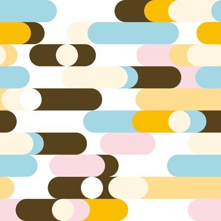 elliptical: Colorful elliptical background. Seamless pattern. Vector.
