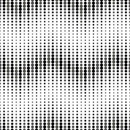 Wavy dots background. Seamless pattern. Vector.