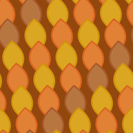 Consecutive seeds background. Seamless pattern. Vector.