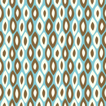 Paper cutout retro background. Seamless pattern. Vector. Illustration