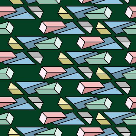 Fond géométrique. Seamless pattern. Vecteur.