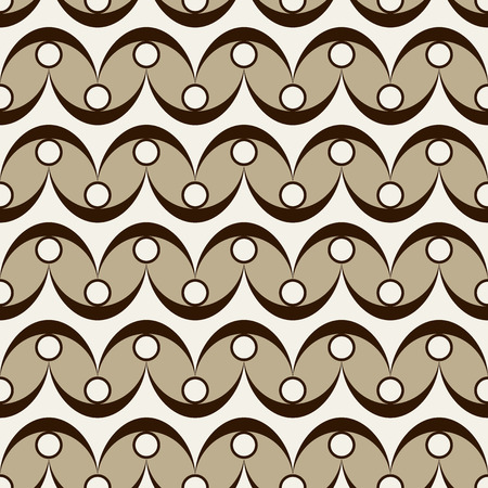 frog egg: Wavy and dots background. Seamless pattern. Vector. Illustration