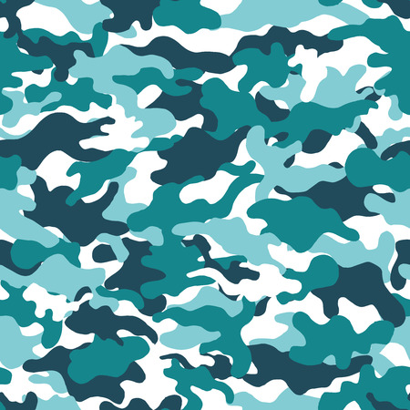 Camouflage background. Seamless pattern. Vector.