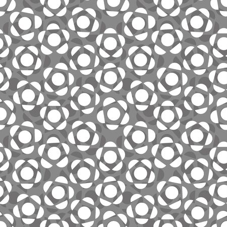 monotone: Flower background. Seamless pattern. Vector.