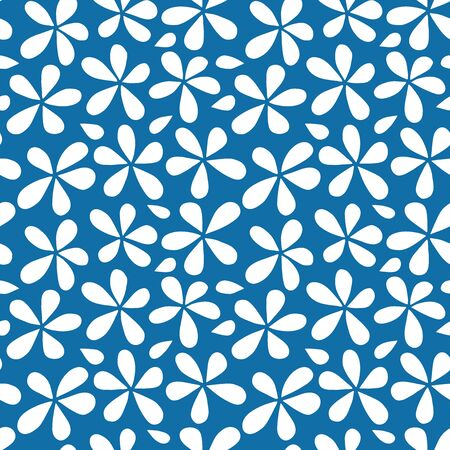 Flower background. Seamless pattern. Vector.