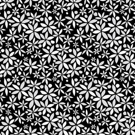 花の背景。シームレス パターン。ベクトル。