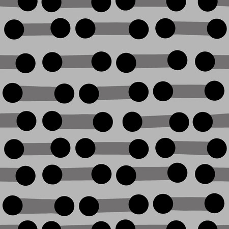 monotone: Continuous circles background. Seamless pattern. Vector. Illustration