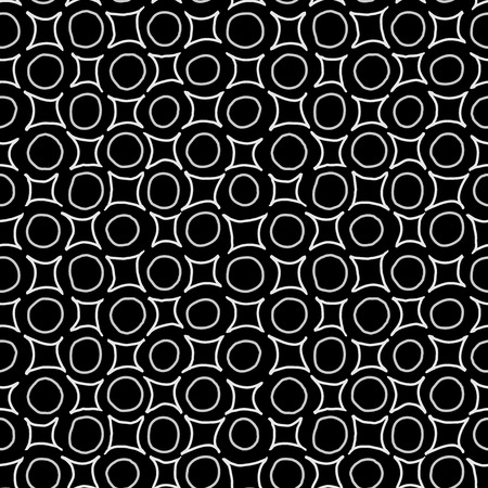 monotone: Hand written geometric shapes background. Seamless pattern. Vector.