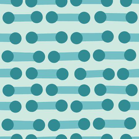 Continuous circles background. Seamless pattern. Vector. Ilustração