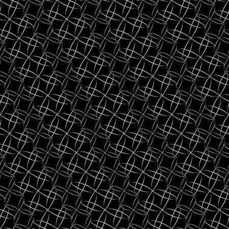 elegant white: Stylish shapes background. Seamless pattern. Vector.