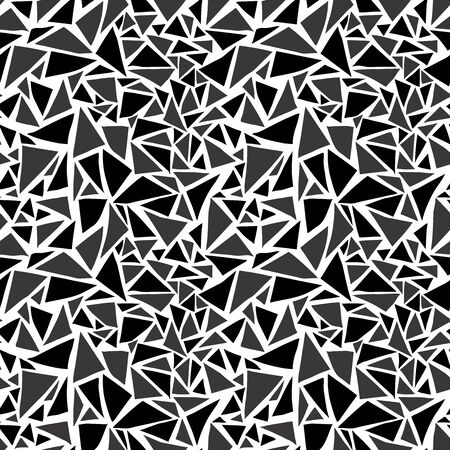 rubble: Random triangle background. Seamless pattern. Vector.