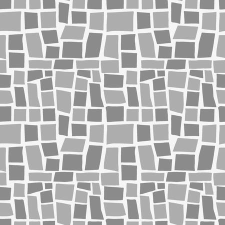 paredes de ladrillos: Fondo geométrico aleatorio. Patrón transparente. Vector.