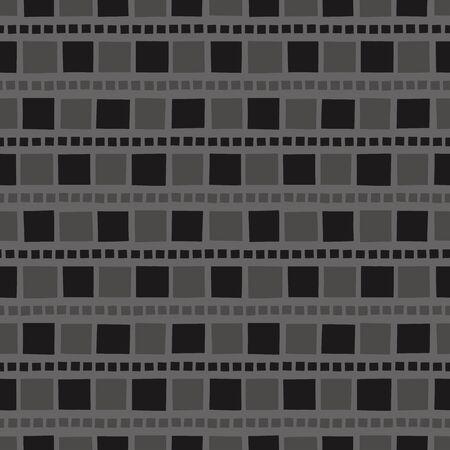 Random geometric background. Seamless pattern. Vector. Ilustração