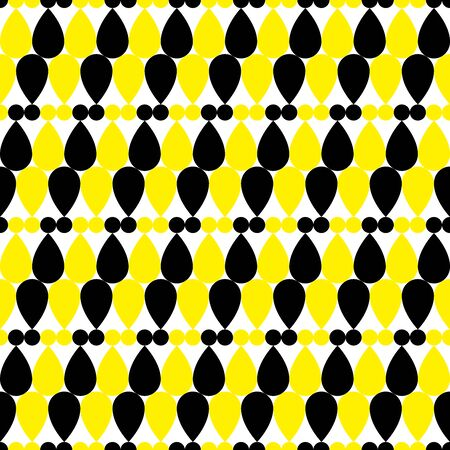 Background of rounded shapes. Seamless pattern. Vector. Illusztráció