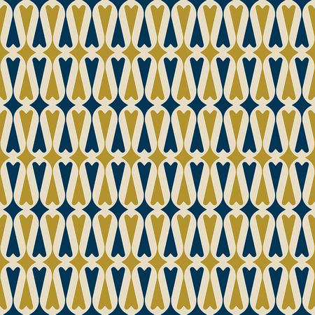 레트로 심장 배경입니다. 원활한 패턴입니다. 벡터.