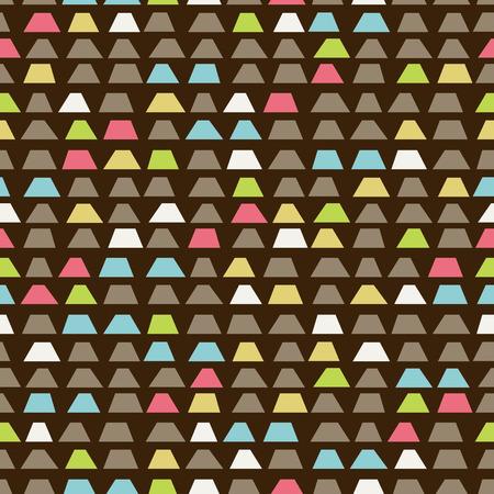 Random trapezoid background. Seamless pattern. Vector. Illustration