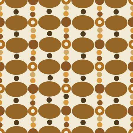 retro: Retro background of random circles. Seamless pattern.