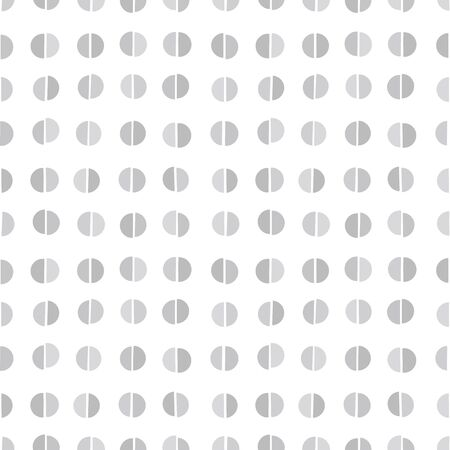 semicircle: Random semicircle dots background. Seamless pattern. Illustration
