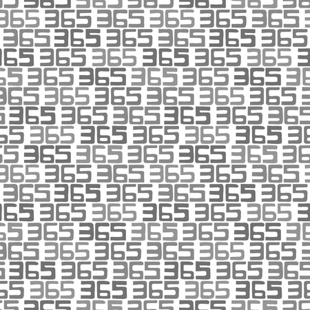 365 numbers background. Seamless pattern. Vector. Illustration