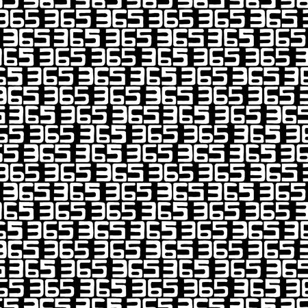 365 numbers background. Seamless pattern. Vector.  イラスト・ベクター素材