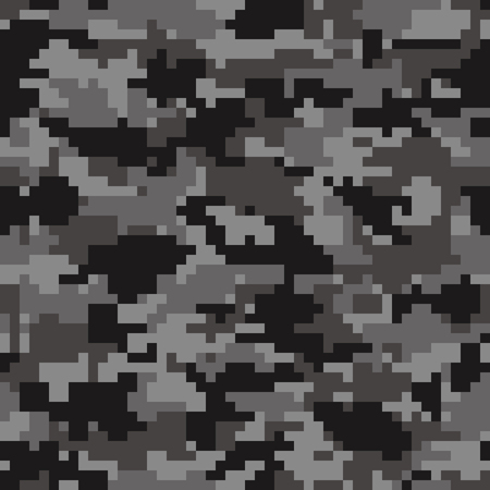 Digital camouflage background. Seamless pattern vector. Ilustração