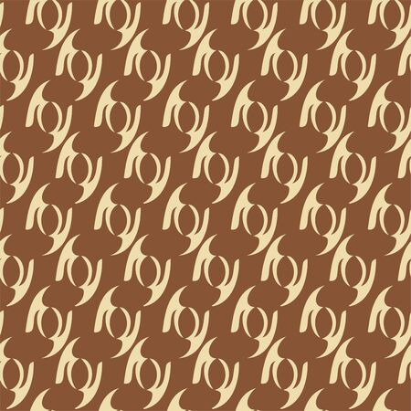 Abstract background shapes. Seamless pattern. Vector.  イラスト・ベクター素材