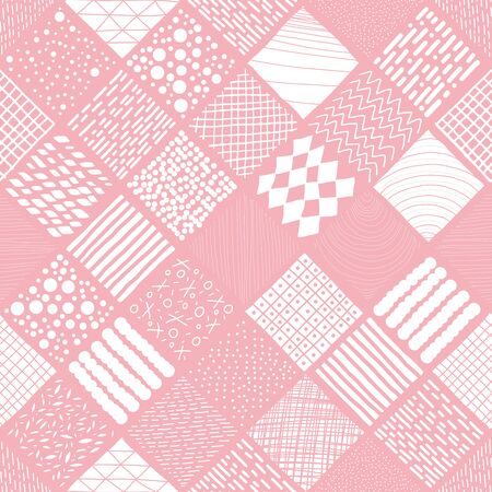 Geometric illustrations background. Seamless pattern. Vector.