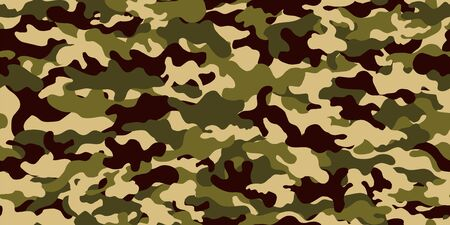 Camouflage background. Seamless pattern vector.  イラスト・ベクター素材