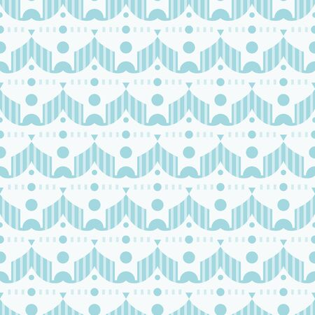Funny shapes background. Seamless pattern. Vector.