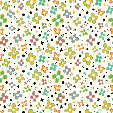 Floral background. Seamless pattern. Vector.