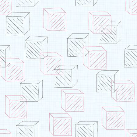 Doodle geometric background. Seamless pattern. Vector.