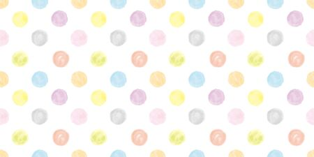 Watercolor geometric background. Seamless pattern. Vector.