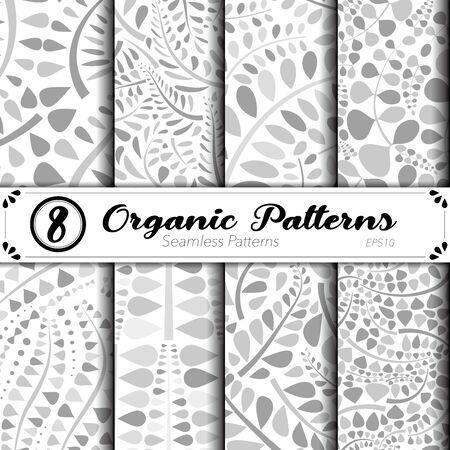 Seamless vector pattern set. Organic. Ilustracja
