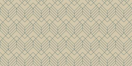 Vintage Art Deco Seamless Pattern. Vector.  Geometric decorative texture. Standard-Bild - 161773731