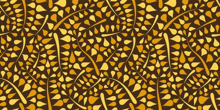 Organic motif, botanical motif background. Seamless pattern.Vector. Standard-Bild - 162912155