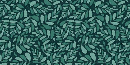 Organic motif, botanical motif background. Seamless pattern.Vector. Illustration