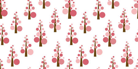 Simple tree background. Seamless pattern. Vector. Standard-Bild - 163001797