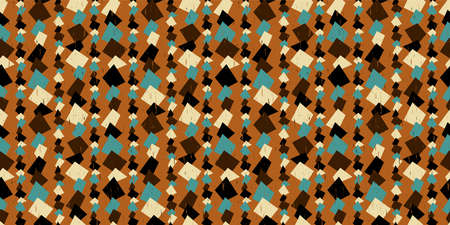 Retro geometric background. Seamless pattern. Vector. Standard-Bild - 163001821