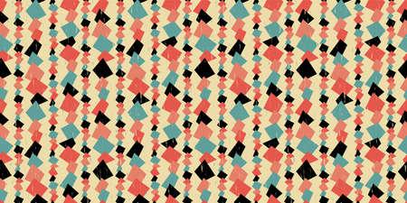 Retro geometric background. Seamless pattern. Vector.