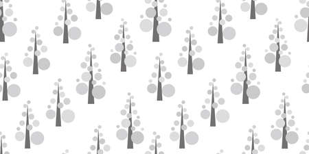 Simple tree background. Seamless pattern. Vector. Standard-Bild - 163001831
