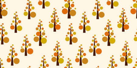 Simple tree background. Seamless pattern. Vector. Standard-Bild - 163001837