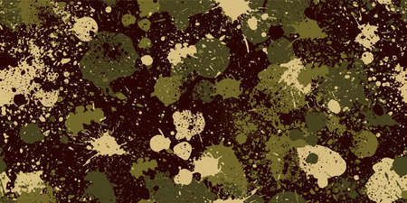 Splashed camouflage background. Seamless pattern.Vector. Illustration