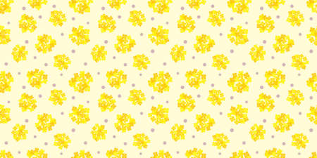 Flower illustration background. Seamless pattern. Vector.