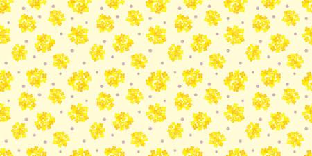 Flower illustration background. Seamless pattern. Vector. Foto de archivo - 168206041