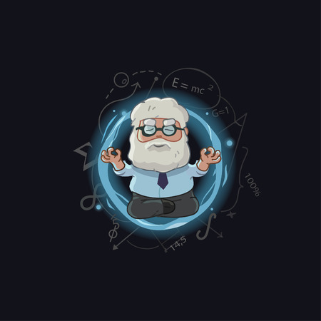 hoary: cartoon Illustration of scientist character Illustration